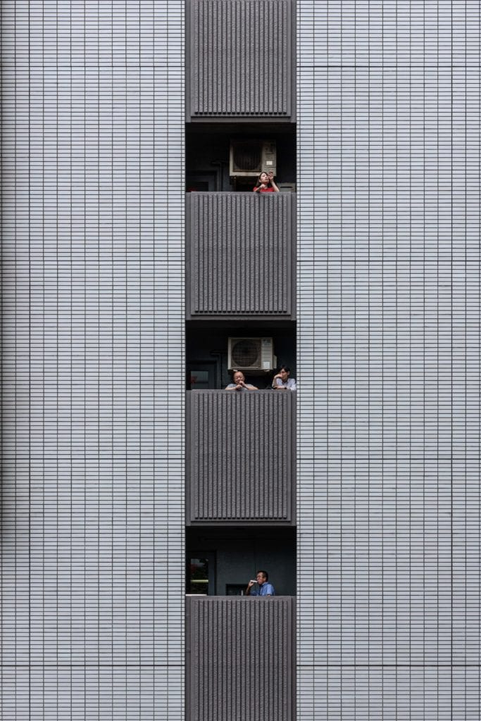 Yi-Hsien Lee z Taiwanu soutěží s fotografií kancelářské budovy v japonském Tokyu — Yi-Hsien Lee/APA19/Sto