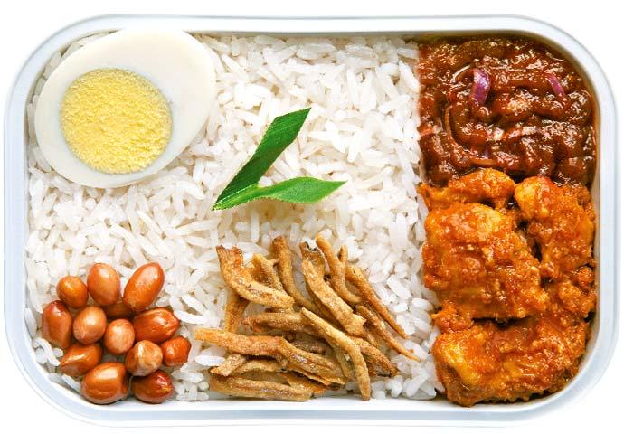 Pak Nasser's Nasi Lemak je jedno z nepopulárnějších jídel AirAsii — AirAsia Group Jídlo z letadla ve fast foodu? Aerolinka AirAsia otevřela netradiční restauraci